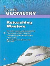 Saxon Geometry: Reteaching Masters 2009