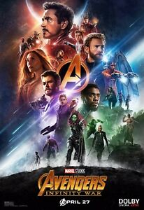 "Avengers: Infinity War (2018) Movie Silk Fabric Poster 24""x36"" 11""x17"""