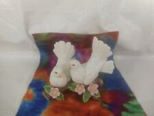 Vintage Home Interiors® Homco® White Doves on a Branch Figurine #1453