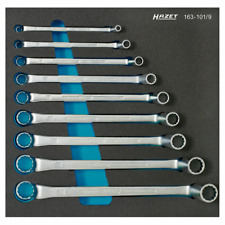Hazet 163-101/9 12-point Double Box-End Wrench Set, 9 pieces