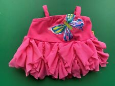 Build a Bear Teddy Bear Clothing - Pink Butterfly Tiered Top - Euc