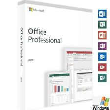 Microsoft Office 2019 Professional for Windows PC PRODUCT KEY & DVD
