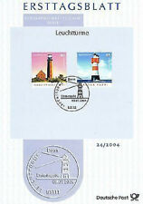 FRG 2004: Lighthouses! First day sheet No 2409+2410 with Bonner Special postmark