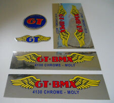 GT BMX Santa Ana restoration frame decal set NOS SE PK DG old school chome moly