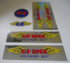 GT BMX Santa Ana restoration frame decal set SE PK DG old school chome moly