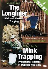 Dvd, McLellan, The Longliner Mink and Muskrat Trapping, 2 Videos on 1 Dvd