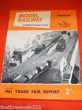 MODEL RAILWAY CONSTRUCTOR - TRADE FAIR REPORT - MARCH 1961