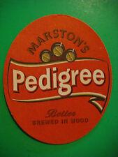 Beer Coaster Mat >< MARSTON'S Pedigree Ale ~ Established 1834, Burton Upon Trent