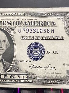 Huge Error  1935E   Left Miscut/Misaligned $1 Silver Certificate UNC!RARE!!