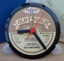OLD GOLD RECORD CENTRE LABEL CLOCK Desk / Side Table + Display  Random Artist