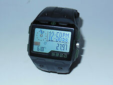 Used Timex Expedition WS4 Watch T49664 Black/Green Altimeter Compass Barometer