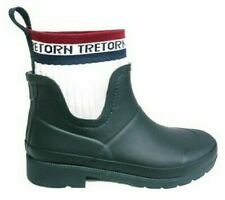 Tretorn Lia White Sock Short Navy Rain Winter Boot WN Sz 10