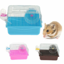 Hamster house small animal cage running wheel water bottle about 23 x 17.5 x 16