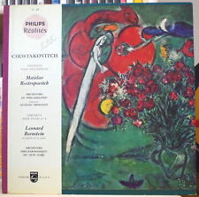 CHOSTAKOVITCH/ROSTROPOVITCH/BERNSTEIN/ORMANDY CHAGALL COVER PHILIPS REALITES