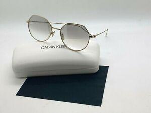 NEW Calvin Klein Sunglasses CK18111S 717 GOLD 51-18-140MM CASE