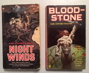 Karl Edward Wagner's Kane in Night Winds And Bloodstone lot! Conan writer