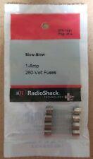 NEW! RadioShack 1 Amp 250 Volt Slow-Blow Fuses 2701021 *FREE SHIPPING*