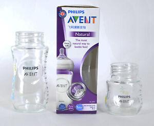 3 Piece set Philips Avent Glass Feeding Baby Bottle BPA Free 240 ml Brand new