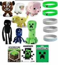 Minecraft MEGA Party Favor Lot 40 Items  Plush, Stickers, Bracelets, Gift Bags