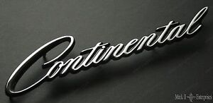 1964-73 LINCOLN CONTINENTAL Quarter Nameplate Script NEW C4VY-5325622