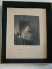 Antique A.H. Payne sc. Etching Steel Engraving, Genuine Gold gild wood frame