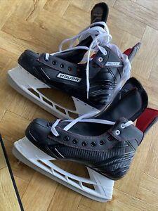 BAUER ELITE ICE SKATES -  ICE HOCKEY SKATES BLACK UK8.5 US9 #APR33