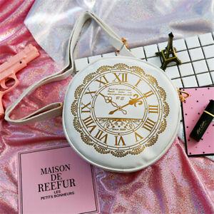 Alice in Wonderland Shoulder Crossbody Bags Clock Lolita Purse Wallet Japanese