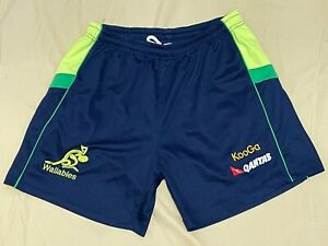Australian WALLABIES Rugby Union QANTAS KooGa Mens Training Shorts GREEN GOLD XL