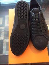 New Hugo Boss Orange Logo Shoes Sneakers  Men Dark Grey Black 7 40 $245