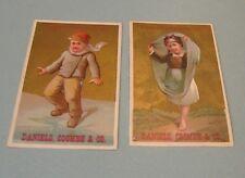 Daniels Coombe & Co. Children's Clothing 2 Victorian Trade Card Lot Cincinnati