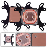 Computer PC CPU Water Cooling Block Waterblock 50mm Copper Base for Intel AMD BT