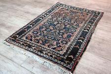 Fein Handgeknüpfter Perser Orientteppich Malayer Hamedan Old Carpet 80x55cm