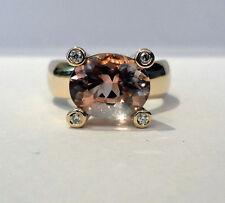 MORGANIT Ring 3,2 ct   585 Gelbgold 4 X Brillant  Wert  3300 € Exkusiv