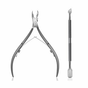 Cuticle Trimmer with Cuticle Pusher - Ejiubas Cuticle Remover Cuticle Nipper ...