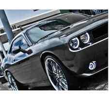 2008-2014 Dodge Challenger White Angel LED Halo Headlights and Fog Lights Kit