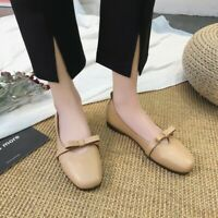 Women Round Toe Bowknot Slip On Loafers Flats Fashion Sweet Comfy Ballet Shoes