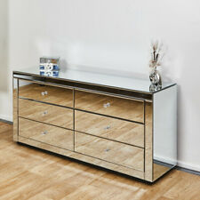 Venetian Mirrored Chest 6drawers Modern Bedroom Storage Lounge Furniture Cabinet