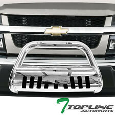 SS CHROME STEEL BULL BAR BRUSH BUMPER GRILL GRILLE GUARD 2004+ COLORADO/CANYON
