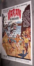 VARAN THE UNBELIEVABLE original 1962 27x41 one sheet movie poster MYRON HEALEY