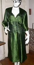 STUNNING VINTAGE WRAP FRONT BROCADE DRESS 40's/50's/size 12