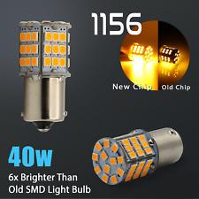 4X 40W 1156 LED Amber Yellow Turn Signal Blinker High Power Light Bulbs