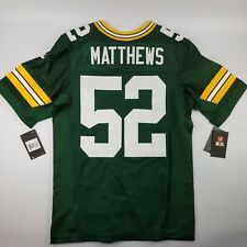 Nike Elite Authentic Size 40 Medium Green Bay Packers Clay Matthews Jersey 60fbcbe6d