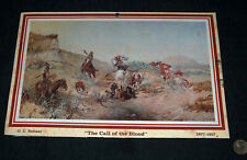 "Olaf c Carl Seltzer 1877-1957 ""The Call of the Blood"" Print of 1911 Art Painting"