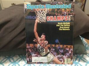 KEVIN MCHALE SIGNED 1986 SPORTS ILLUSTRATED/BOSTON CELTICS WORLD CHAMPIONS, BIRD