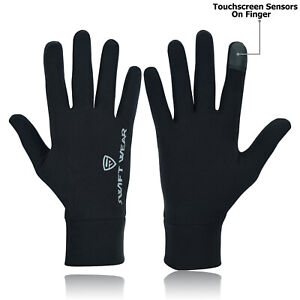 Men light weight reflective logo Running gloves Black Cycling Touchscreen Phone