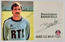 D. Baratelli / Frankreich /  WM 1978 1982 - orig. signierte Paris SG AK