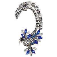 Fashion Crystal Clip Ear Cuff Stud Women's Punk Wrap Cartilage Earring Jewe L3C1