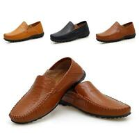 New Mens Breathable Leather Moccasin Slip On Loafers Driving Casual Boat Shoes