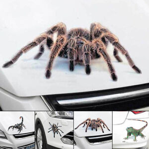 Funny 3D Spider Crawling Decal Hood Window Sticker FOR Car Truck Vehicle Decor