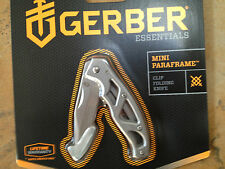 GERBER MINI PARAFRAME FRAMELOCK POCKET KNIFE PLAIN EDGE 22-48485 NEW CLAMPACK